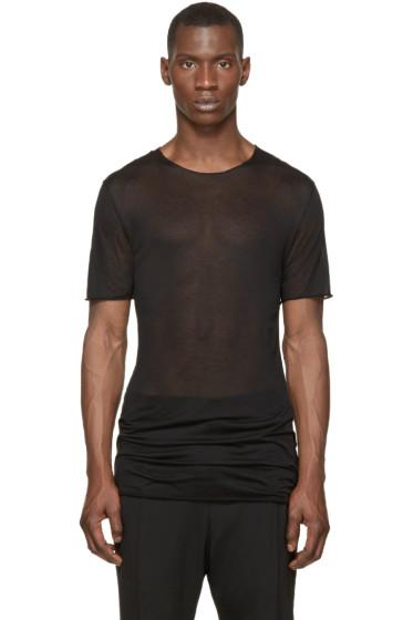 Thamanyah - Black Sheer Minimal Mist T-Shirt