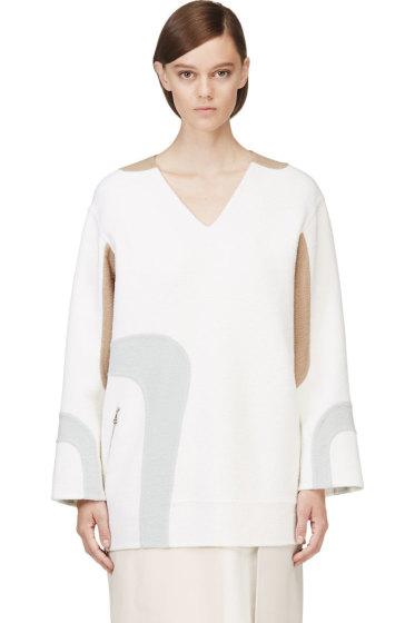 Marc Jacobs - White V-Neck Wool Tunic