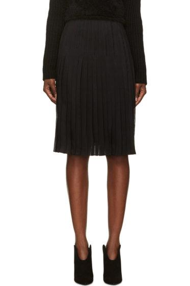 Givenchy - Black Silk Chiffon Pleated Skirt