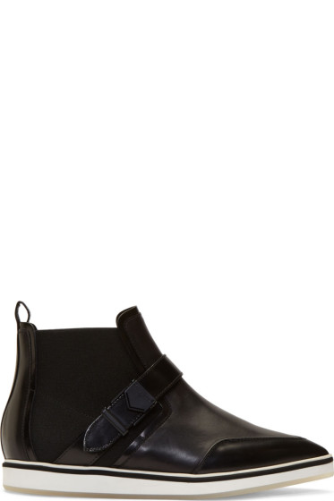 Nicholas Kirkwood - Black Leather Pointed Ankle Boots