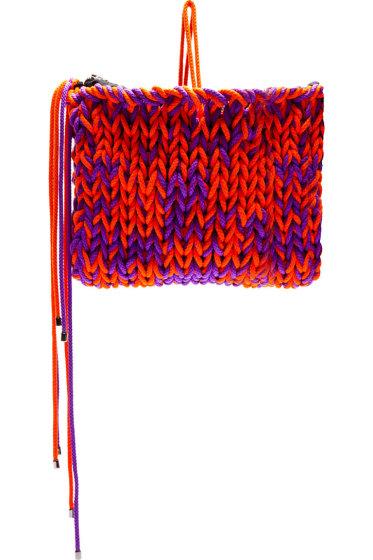 Roksanda - Purple & Orange Knit Wool Clutch