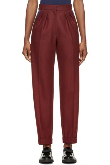Roksanda - Burgundy Wool Marre Trousers