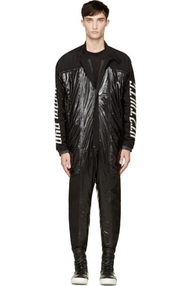 KTZ - Black Padded Nylon & Leather Boiler Suit