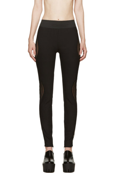 Stella McCartney - Black Ribbed Wave Leggings