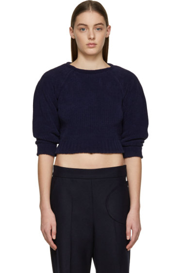 J.W.Anderson - Navy Chenille Sweater