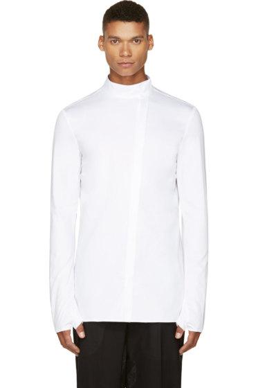 Thamanyah - White Dervish Collar Falconry Shirt