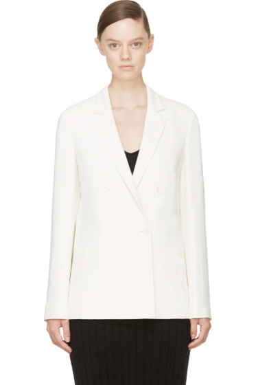 Calvin Klein Collection - Ivory Crepe Abiba Blazer