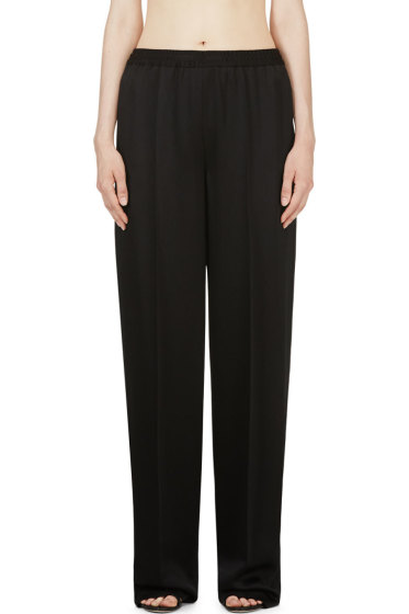 Calvin Klein Collection - Black Hammered Satin Welma Trousers