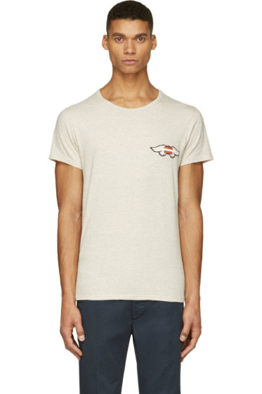 Visvim - Ecru & Grey Mélange Wings T-Shirt