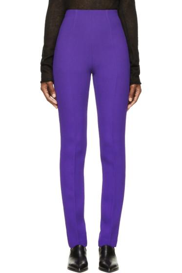 Costume National - Purple High-Waisted Wool Trousers
