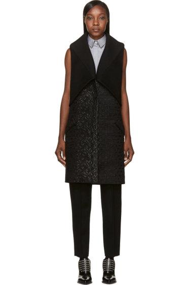 Maiyet - Black Shawl Overlay Vest