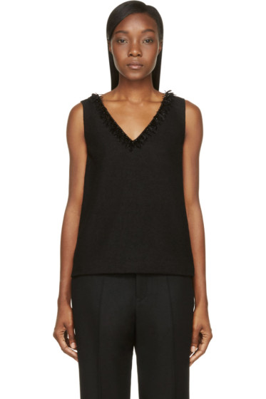Mother of Pearl - Black Wool Crepe Wynn Tank Top