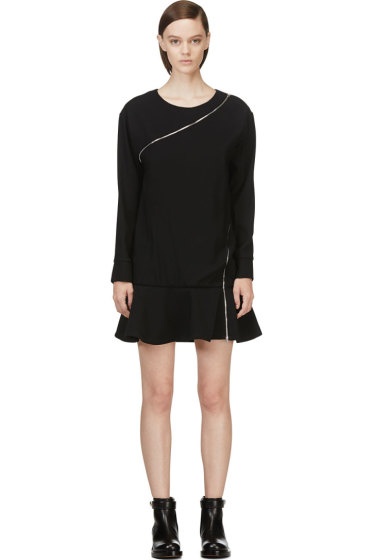 Jay Ahr - Black Zip-Wrap Phenice Dress