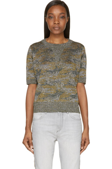 Isabel Marant - Green Watson Woodland Camo Top