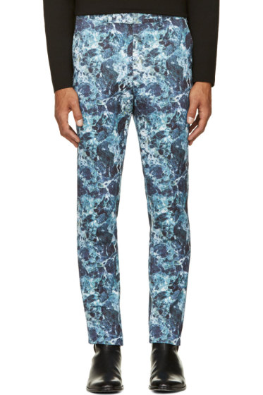 Johnlawrencesullivan - Blue Marbled Trousers