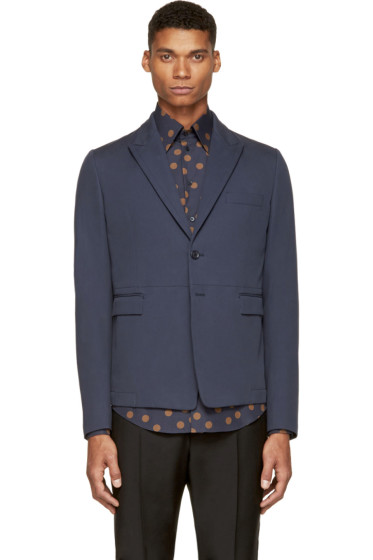 Dolce & Gabbana - Blue Cotton Blazer