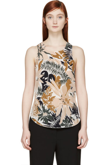 Rag & Bone - Cream Silk Patricia Top
