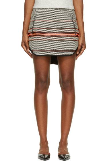 Rag & Bone - White & Black Multi Stripe Bess Mini Skirt