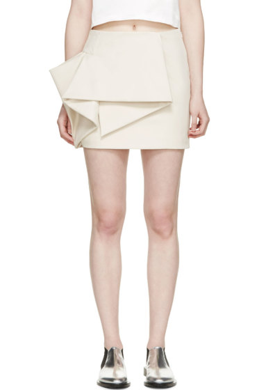 Marc by Marc Jacobs - Beige Origami Tailored Mini Skirt