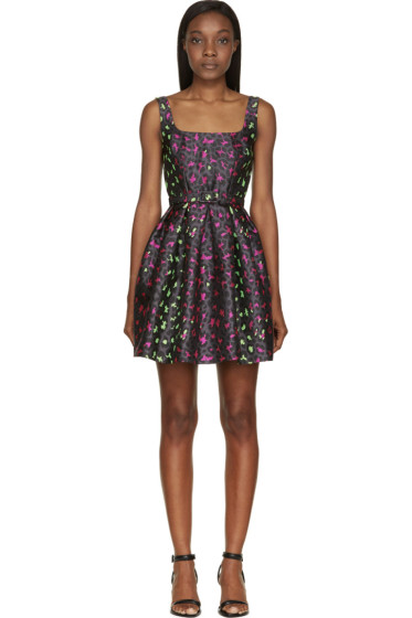 Christopher Kane - Grey Leopard Jacquard Princess Dress