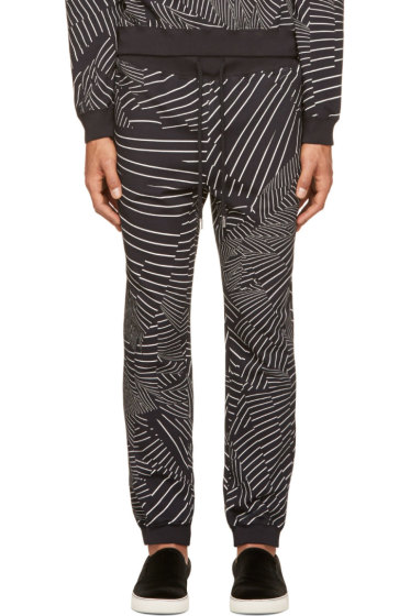 Christopher Kane - Black & White Deconstructed Stripe Lounge Pants