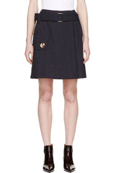 Marc Jacobs - Navy Twill Belted Pocket Skirt