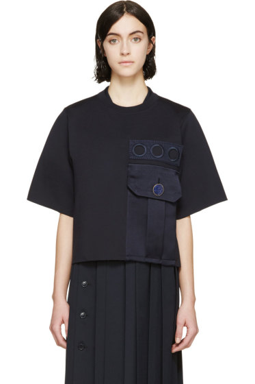 Marc Jacobs - Navy Oversized Pocket Sweatshirt