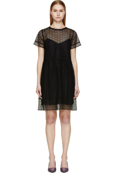 Marc Jacobs - Black Layered Broderie Anglaise Dress