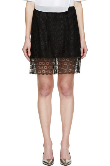 Marc Jacobs - Black Layered Broderie Anglaise Skirt