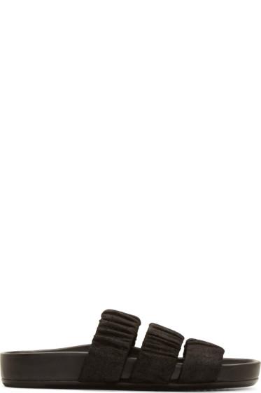 Rick Owens - Black Elasticized Granola Sandals