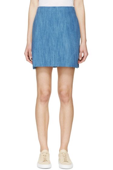 A.P.C. - Indigo Denim A-Line Day Skirt