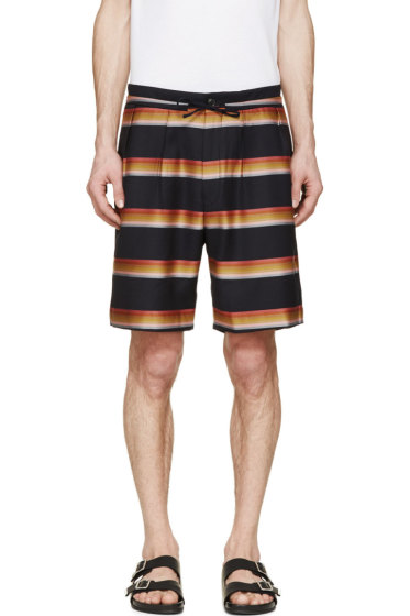 Paul Smith - Navy Striped Trouser Shorts