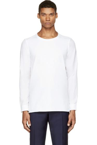 Paul Smith - White Cotton & Linen Smock Shirt