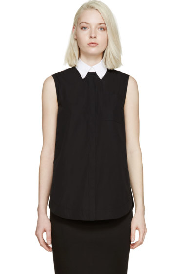 Givenchy - Black Pearl Accent Blouse