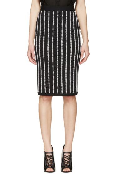 Givenchy - Black Crocheted Stripe Skirt