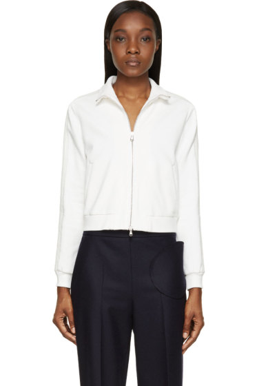 3.1 Phillip Lim - White French Terry Trapunto Sweater