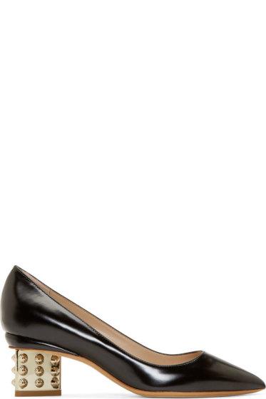 Nicholas Kirkwood - Black Studded Triangle Pumps