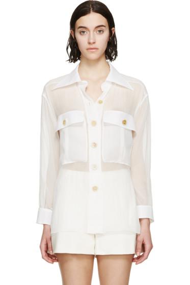 Chloé - White Silk Parachute Shirt