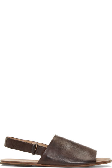 Marsèll - Brown Leather Slingback Sandals