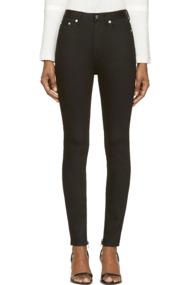 BLK DNM - Black High-Waisted Skinny Jeans