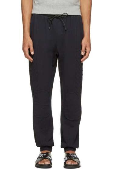 Pierre Balmain - Black Quilted Lounge Pants