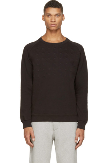 Pierre Balmain - Black Covered Stud Sweatshirt