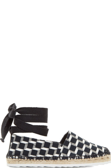 Pierre Hardy - Black Cubist Print Lace-Up Espadrilles