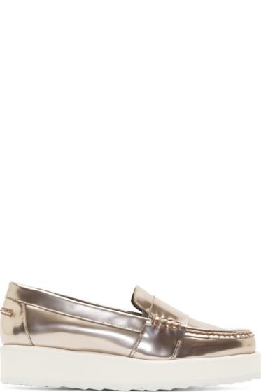 Pierre Hardy - Pewter Metallic Penny Loafers
