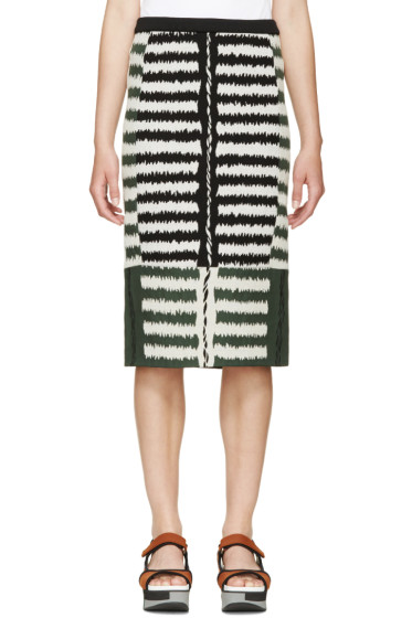 Marni - Green Jacquard Pencil Skirt