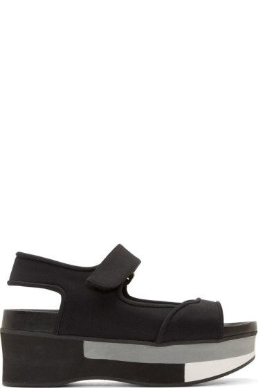Marni - Coal Wedge Platform Sandals