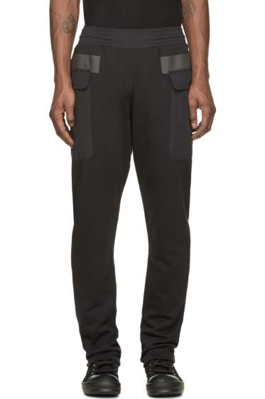 Silent by Damir Doma - Black Paneled Pocket Plejona Lounge Pants