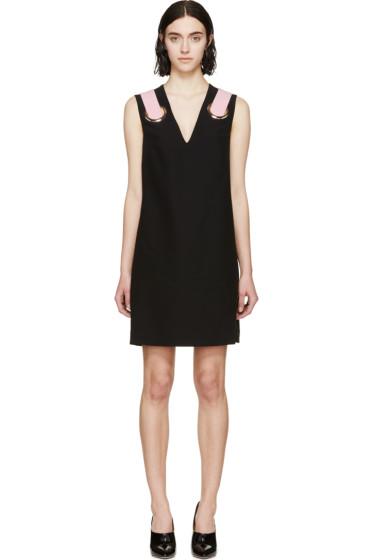 Versace - Black Silk Shift Dress