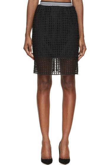 Denis Gagnon - Black Lattice Mini Skirt