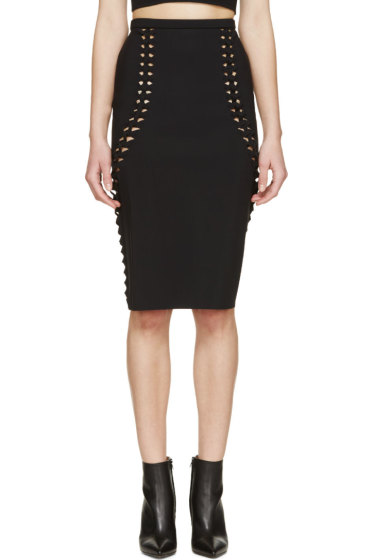 Dion Lee - Black Woven Trim Skirt